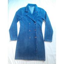 Casaco/ Sobretudo/ Trench Coat Jeans Acinturado