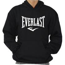 Blusa De Moleton Everlast Modelo Canguru Com Capuz