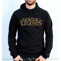 Blusa Moletom League Of Legends Canguru Com Capuz Promoção !