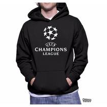 Blusa Champions League Moletom Canguru Frete Grátis