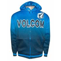 Jaqueta Volcom Forrada Azul Degradê