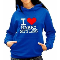 Moletom I Love Harry Styles One Direction Canguru.promoção