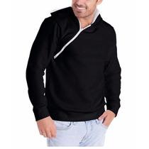 Jaqueta Masculina Blusa De Frio Casaco Capuz Ziper Moletinho