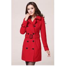 Trench Coat Importado Pp Sobretudo Feminino Elegante Em Lã