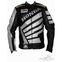 Jaqueta Moto Honda Hrc Racing Couro Pu - Oferta Relâmpago