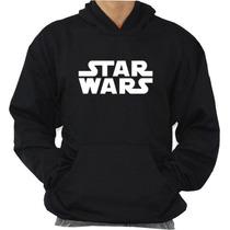 Blusa De Moleton Star Wars Modelo Canguru De Capuz