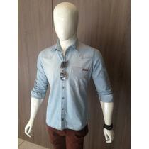 Camisa Jeans Masculina, Camisa Social Jeans