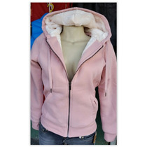 Jaqueta Feminina Em Moletom Forrada - Moda Outono Inverno