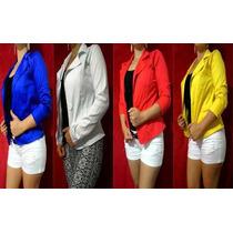 Blazer Em Sarja Cotton Em Várias Cores