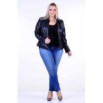 Jaqueta Couro Program Moda Tam 44 Ao 54 Moda Plus Size