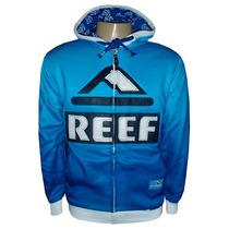 Jaqueta Reef Azul E Branca Forrada
