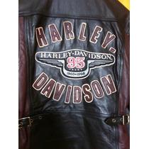 Jaqueta Harley Davidson Couro Comemorativa 95 Anos Feminina