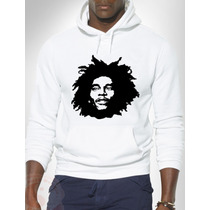 Blusa Bob Marley (rastafári) Moletom Canguru