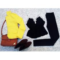 Conjunto Blazer Feminino Colorido + Calça Montaria + Blusa