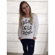 Blusa De Moletom Inverno Creme De La Creme Modelo Slim