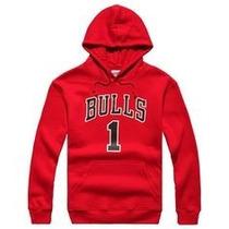 Blusa Chicago Bulls Derrick Rose Jaqueta Moletom