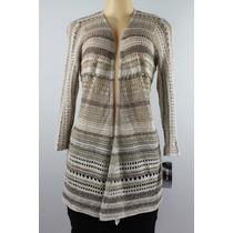 Style&co. 3/4 Sleeve Pointelle Cardigan Sweater Neutro