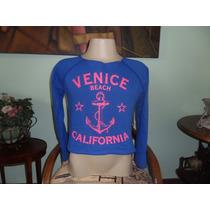 Blusa Moletom Flanelado Sem Capuz Feminino Venice Beach