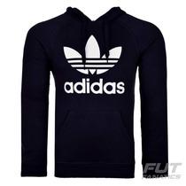 Moletom Adidas Trefoil Originals Preto - Futfanatics