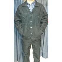 Jaqueta Jeans Masculina Strech Tradicional Preta (nova)