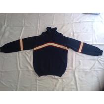 Blusa Suéter Pullover Ziper Masculino Lã Usada Tamanho G