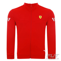 Jaqueta Puma Scuderia Ferrari Track Vermelha - Futfanatics