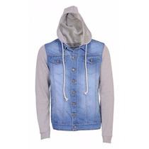 Jaqueta Masculina Jeans Moletom Casaco Inverno