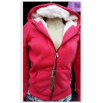 Jaqueta Feminina Em Moletom Forrada - Outono Inverno