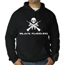 Blusa Iron Maiden - Moletom Canguru - Promoção!