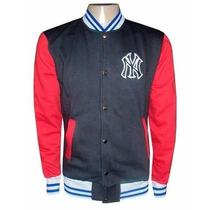Blusa Moletom New York Yankees Preta E Vermelha College