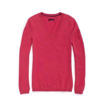 Tommy Hilfiger -pink Suéter Em Tricot - Fem.diversos Tam. -