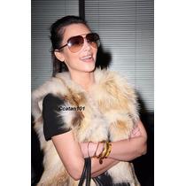 Colete De Pele Coelho Pêlo Ecológica Tricolor Kim Kardashian
