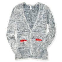 Aeropostale Womens Bolso Distorcido Cardigan Sweater