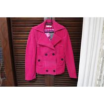 Casaco De Lã Batida Rosa Pink, Todo Forrado, Ótima Qualidade