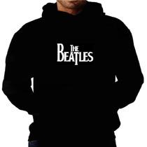 Blusa Moletom The Beatles Capuz E Bolso Bandas Frio Inverno