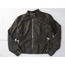 Blusa jaqueta De Couro Ecológico Feminina Marrom+frete