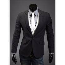 Blazer Casual Masculino Moderno Elegante Preto Prontaentrega