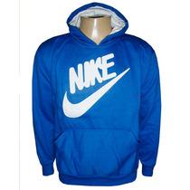 Blusa Moletom Nike Canguru Azul Royal Nk7