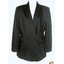 Blazer Importado M Elegante Sofisticado Boyfriend Lã Preto