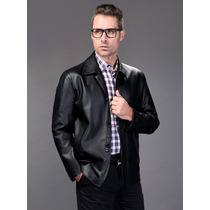 Jaqueta De Couro Eg- Importado Legítimo Elegante Masculino