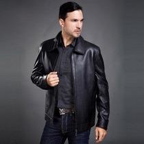 Jaqueta Importada Gg- Homem, Luxuosa E Elegante Couro Preto