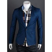 Blazer Slim Fit Luxo Casual Festa Importado 5 Cores #6633