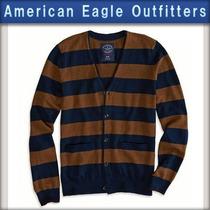 Cardigan American Eagle Tam Xl Marron/azul Marinho, O674