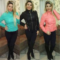 Jaqueta Feminina Importada Couro Pu Sintético Ref 0018