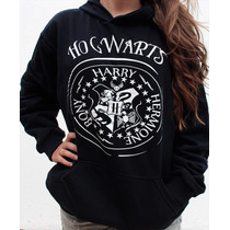 Blusa Moletom Hogwarts Harry Potter Canguru
