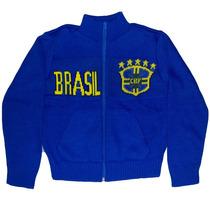 Jaqueta Do Brasil Infantil Agasalho Blusa
