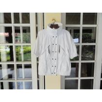 Casaco/jaqueta/blusa Zara Feminino Branco M.made In Spain
