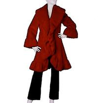 Casaco Pele Novo Import Terry Lewis Longo Luxos Clássicos