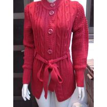 Casaco De Lã Em Trico Da Barred