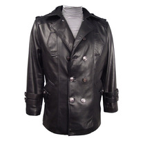 1040 Men Four Season Couro Wearable Jacket Destacável Liner